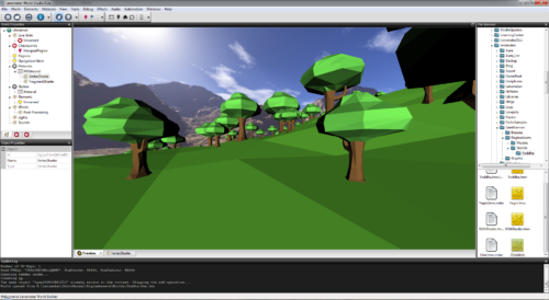 Sample Lowpoly game level